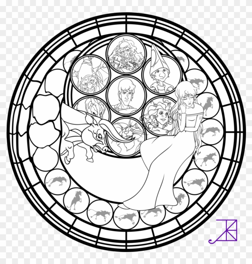 Stained Glass - Coloring Pages for Adults | 879x840