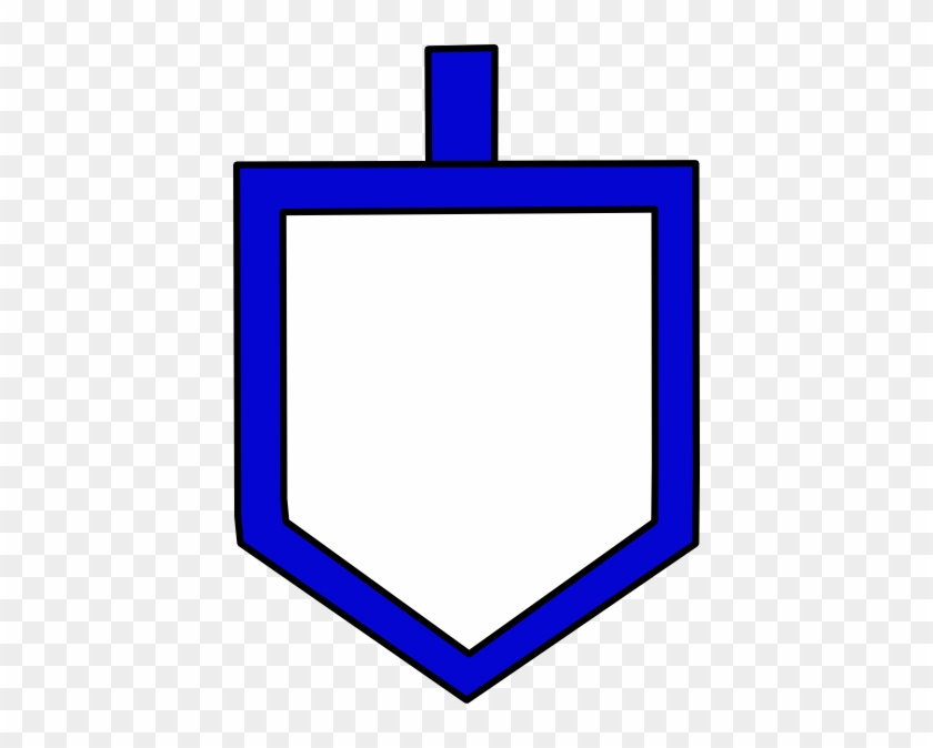 Blue Dreidel Shape Clip Art At Clker - Dreidel Clip Art #430861