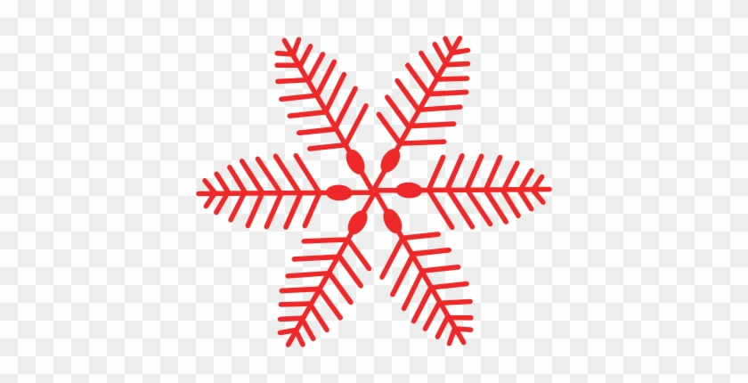 Christmas Snowflake Clipart - Red Christmas Clip Art #430916