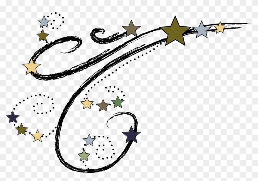Drawn Falling Stars All Star - Shooting Star Clipart Free #431010