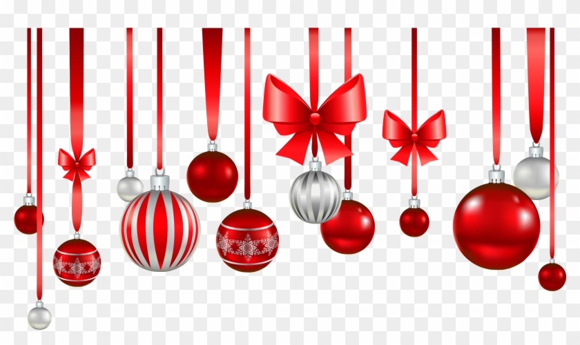 Christmas Baubles Png - Christmas Tree Red Ball Decorations #431810