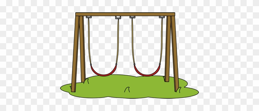 Playground Clipart Swingset - Clip Art Swing Set #431949