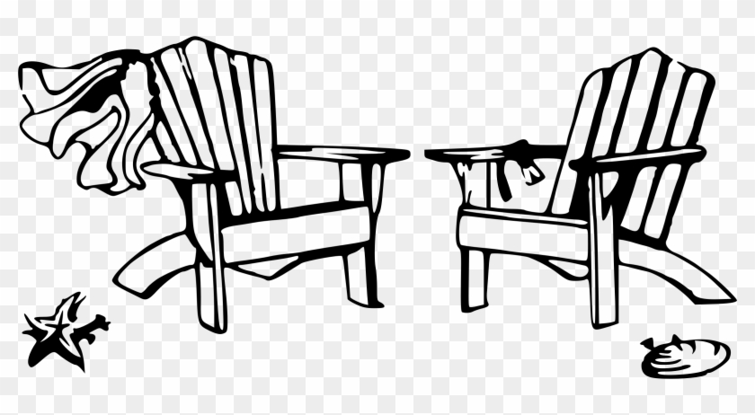 Adirondack Beach Chair Clipart 3 By Jamie - Black And White ...