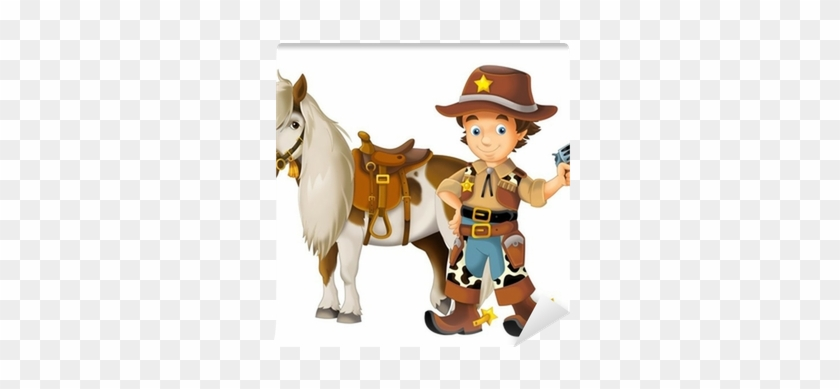 Cowgirl - Cowboy - Wild West - Illustration For The - Dibujo De Vaquero En Caballo #432432