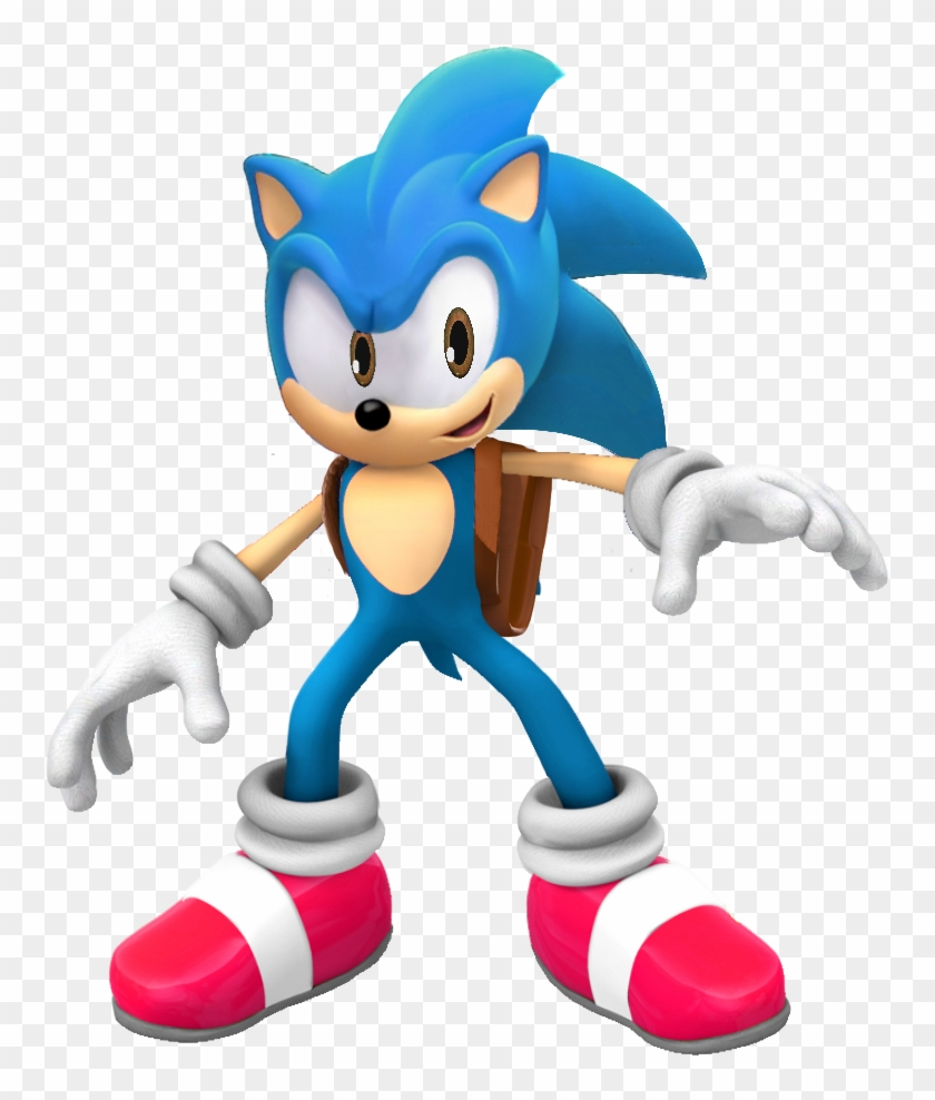 Sonic The Hedgehog Satam Modern Way Past Cool Backpack Sonic Generations Classic Sonic Free Transparent Png Clipart Images Download