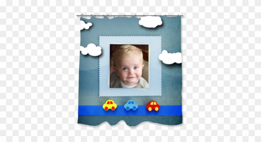 """Baby Cars Shower Curtain, 71"""" X 74"""" Shower Curtains- - Stock Photography #432702"""
