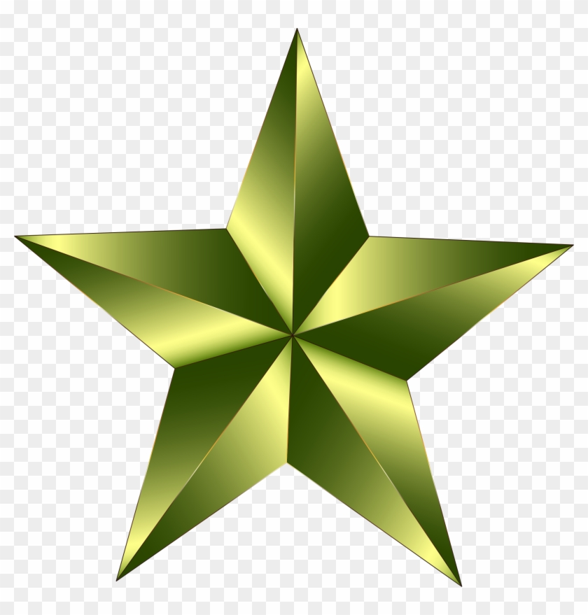 Green Star Clip Art Medium Size - Stars That You Can Draw #432856