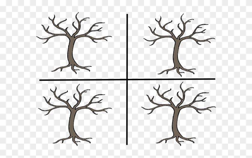 4 Trees Clip Art At Clker Bare Tree Clip Art Free Transparent