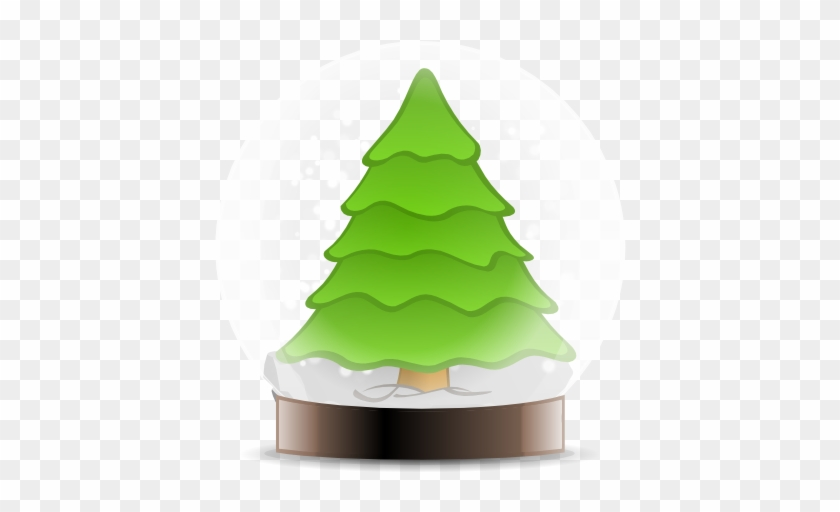 Snow Globe - Santa Claus And Christmas Tree Clip Art #433049