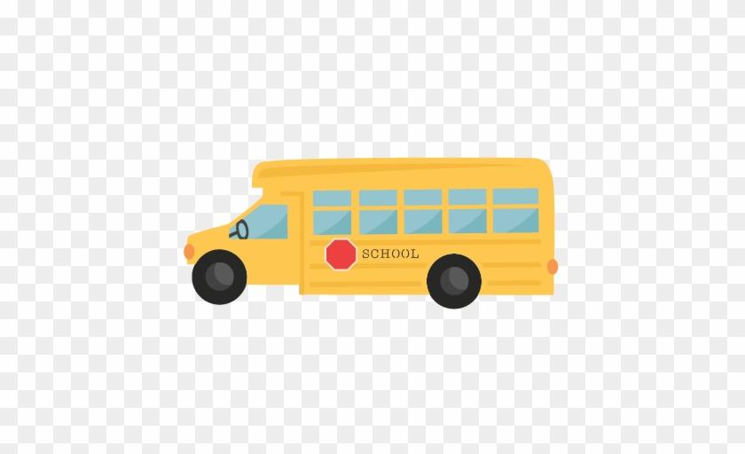 School Bus Svg Scrapbook Cut File Cute Clipart Files - School #433292