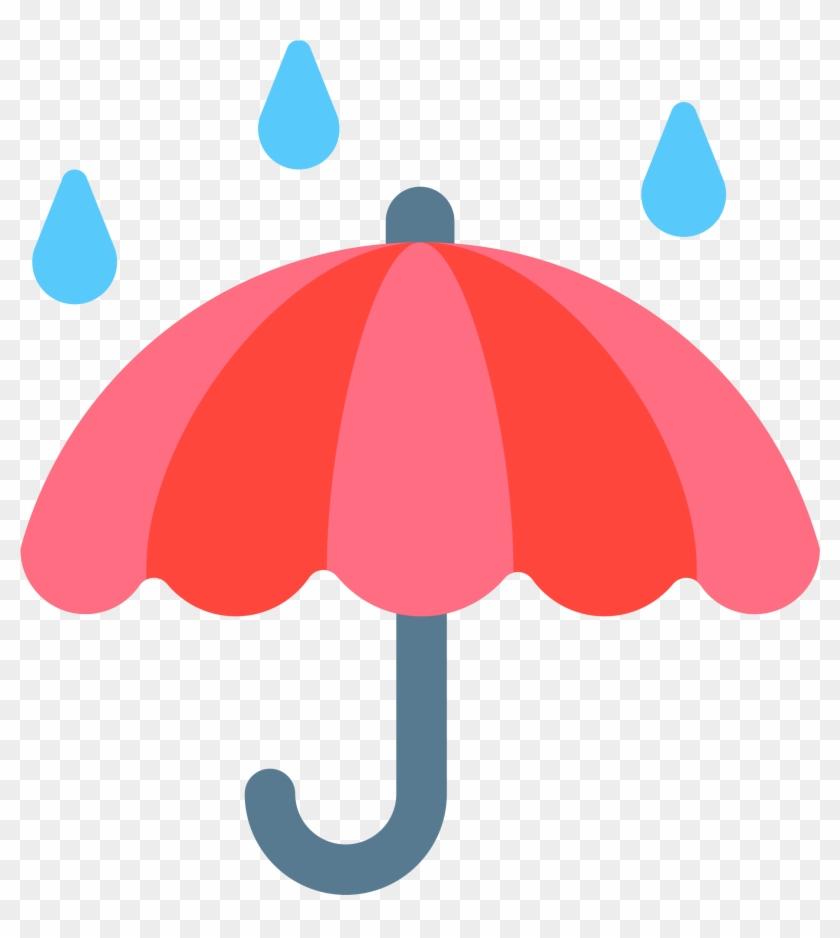 Open - Umbrella With Rain Png #433404