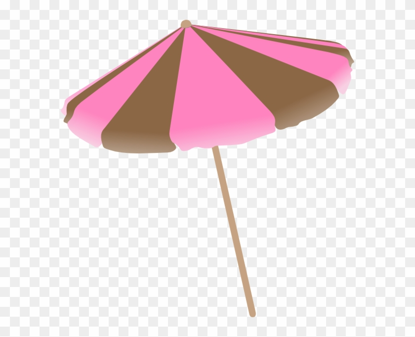 Pink Beach Umbrella Clipart 433417
