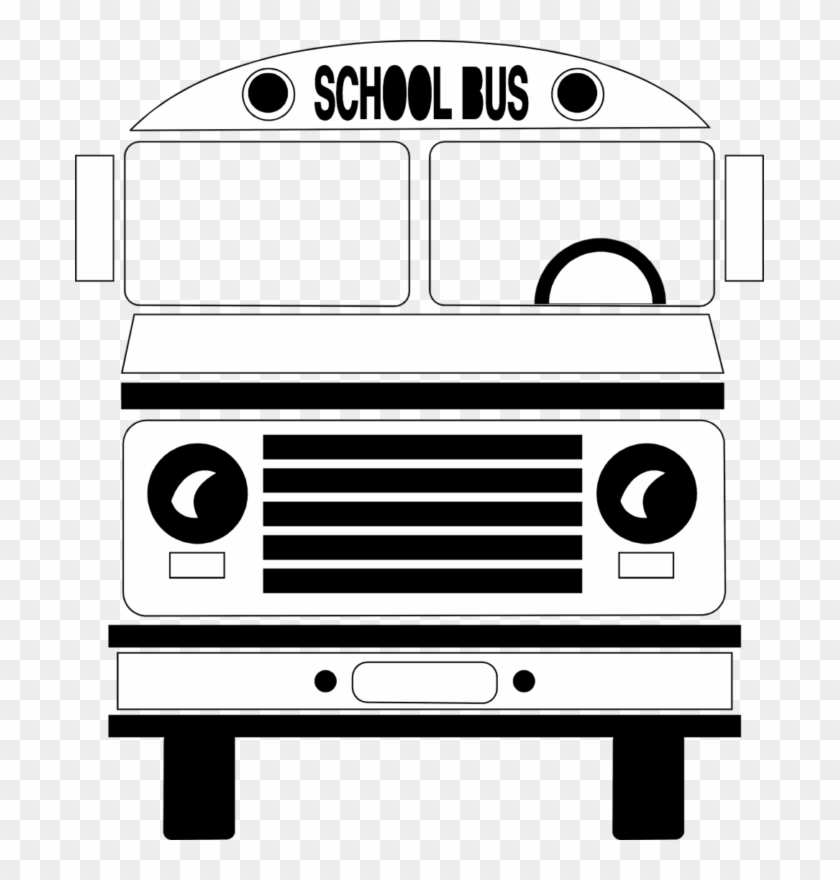 Best School Bus Clipart Transparent Hd Photos Download - School Bus Black And White Png #433542