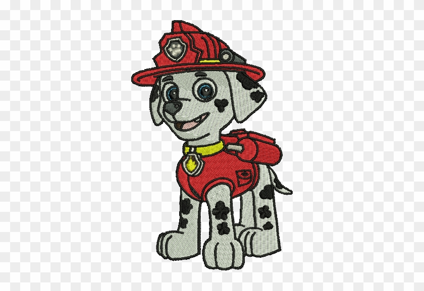 Marshall Paw Patrol Embroidery Designs Instant Download