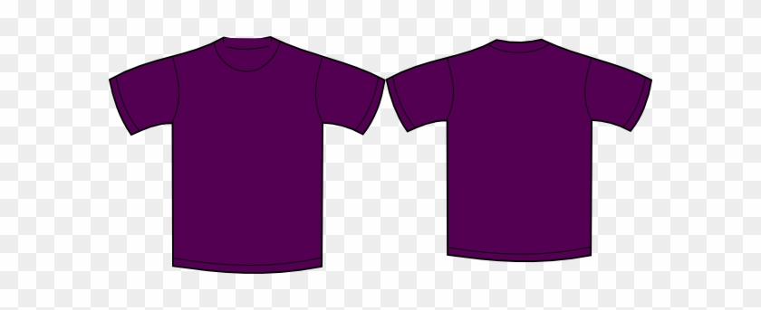 Purple Clipart Tshirt - Plain Purple T Shirt Front And Back #434025