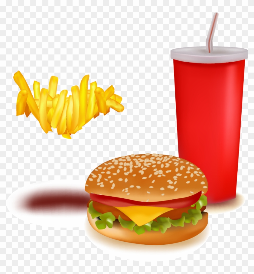 Hamburger Fast Food Soft Drink French Fries - Junk Food With X #434371