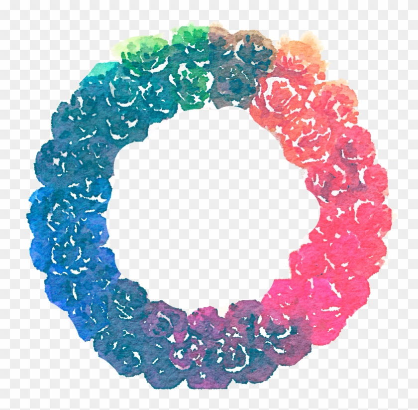 Watercolor Christmas Wreath Png.Free Rainbow Wreath Png Watercolor By Anjelakbm Png