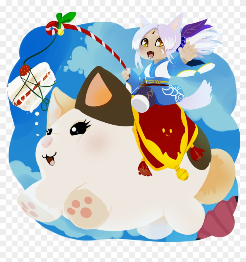 Chi Fat Cat By Drowtales - Ffxiv Fat Cat Mount - Free Transparent