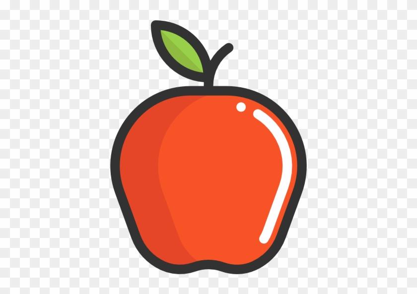 Apple Free Icon - Healthy Food Cartoon Transparent #434926