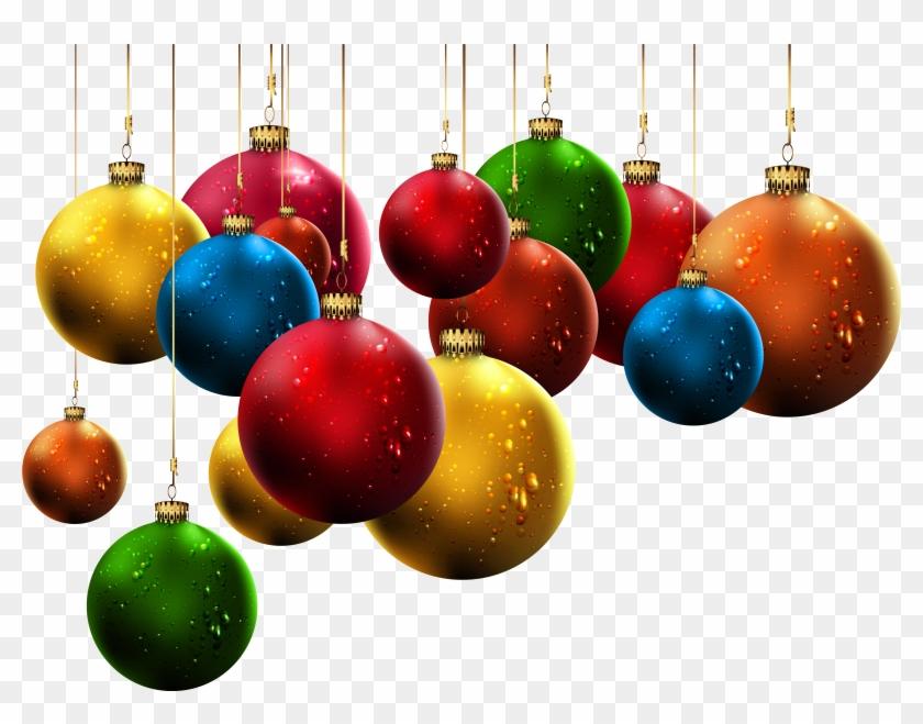 Hanging Christmas Balls Png Clip Hanging Christmas Balls Ornaments