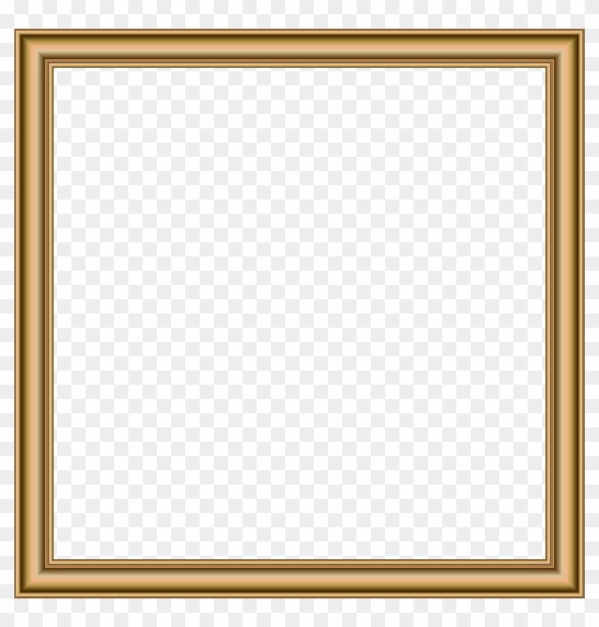 Gold Border Frame Transparent Png Image - Simple Gold Frame #435333