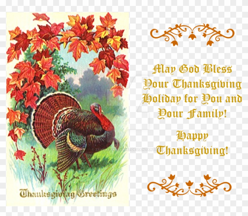 Thanksgiving Greeting Card Iii By Zandkfan4ever57 - Happy Thanksgiving To You And Your Family #435431