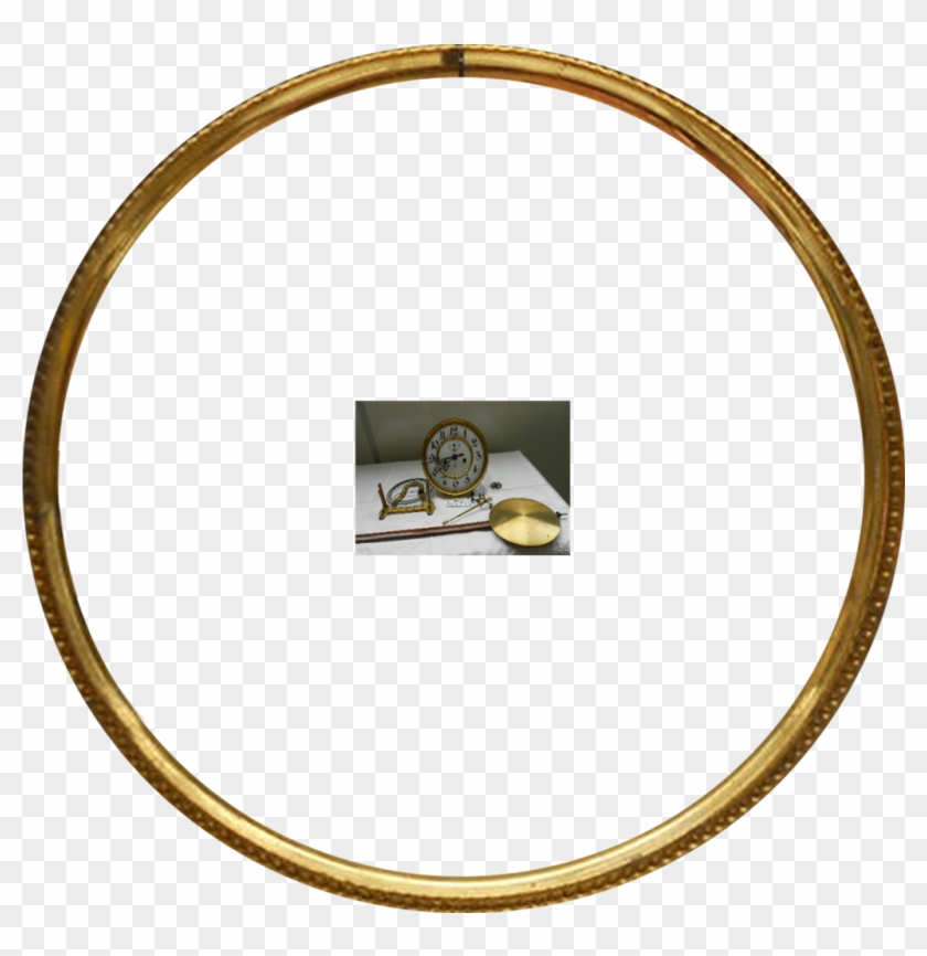 Gold Frame Round Clock Part By Magicsart - Gold Frame Circle Png #435465