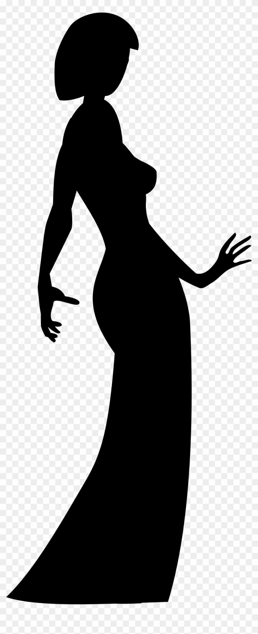 Big Image - Woman Shadow Png Dress - Free Transparent PNG