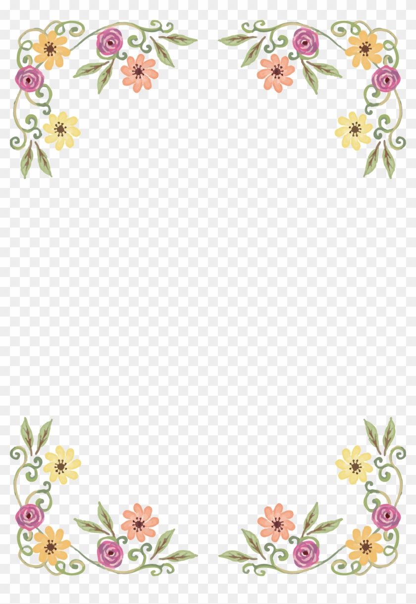 Wildflower Floral Design - New Years Border Png #436057