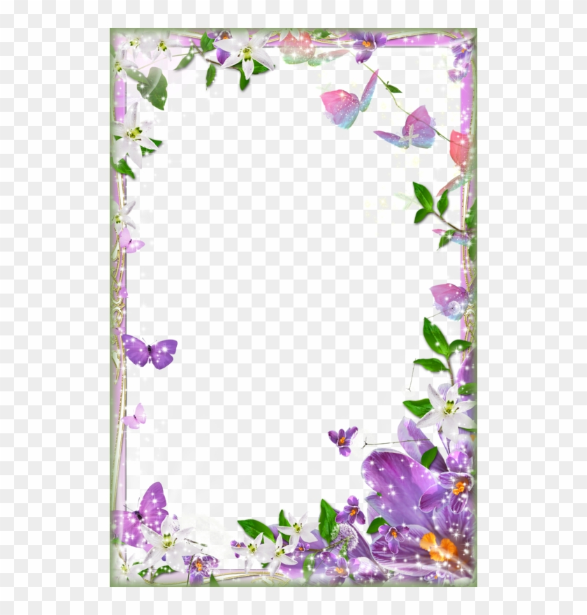 Page Border Designs For Projects With Flowers - Flower Page Border Design #436060