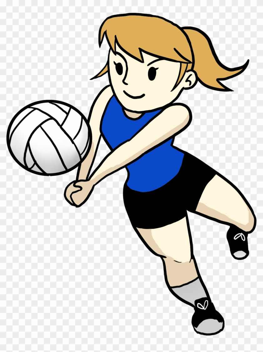 Drills Will Be Designed To Improve Weakness - Cartoon Girl Playing Volleyball #436099