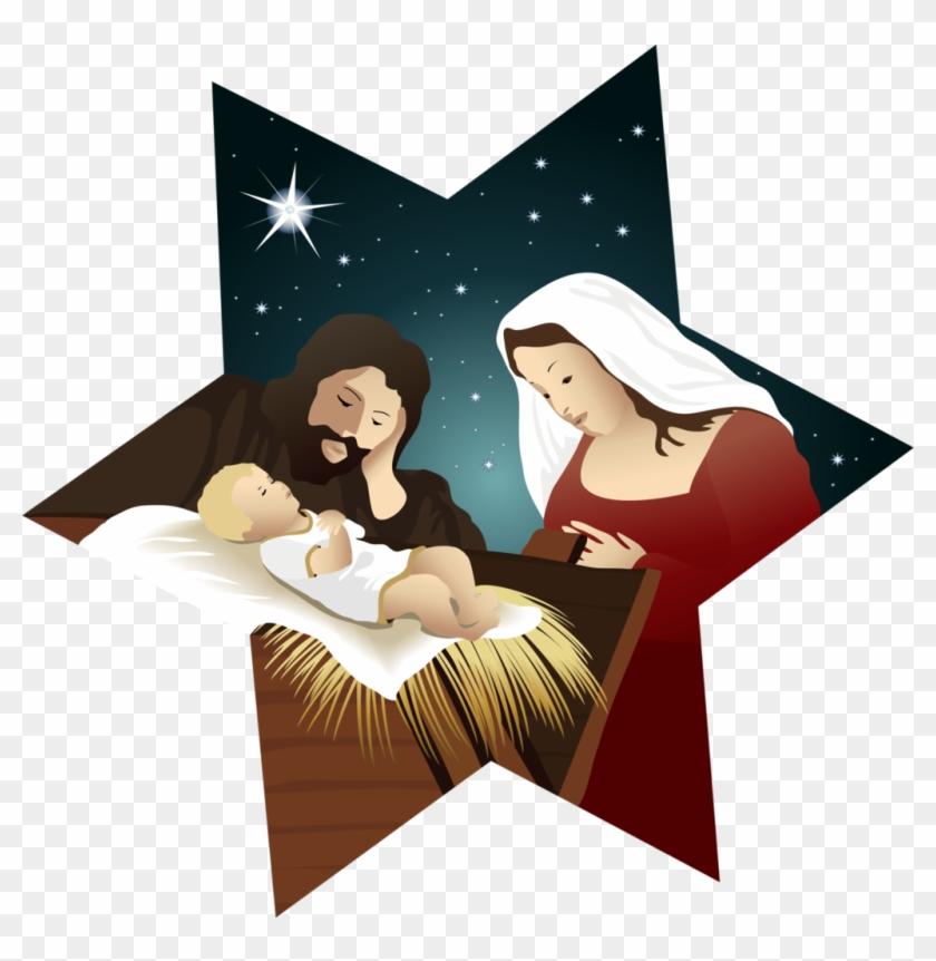 Holy Family And The Birth Of Jesus1 By Samasmsma - Christmas Nativity Vector #436167