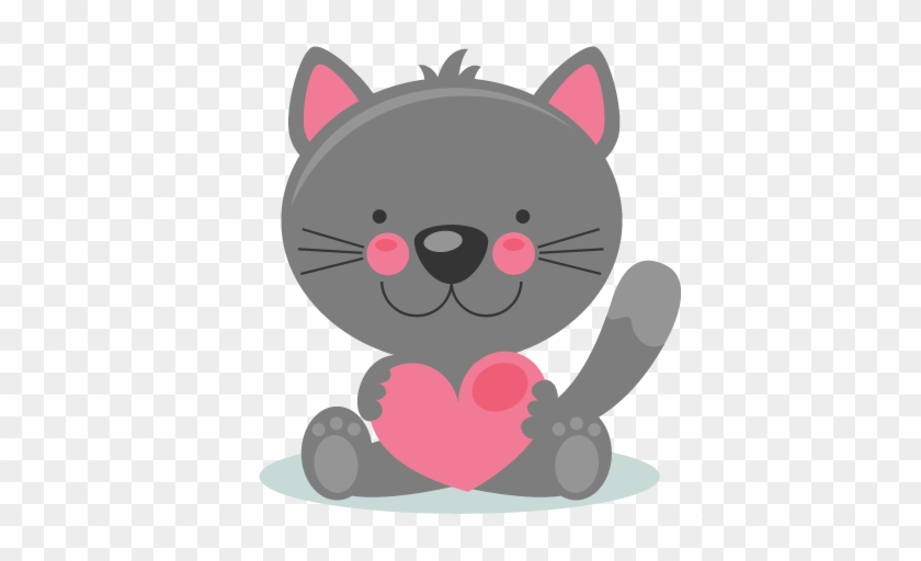 Cute Valentines Day Clipart Large Cute Valentine Kitty - Cute Valentines Day Clipart #436247