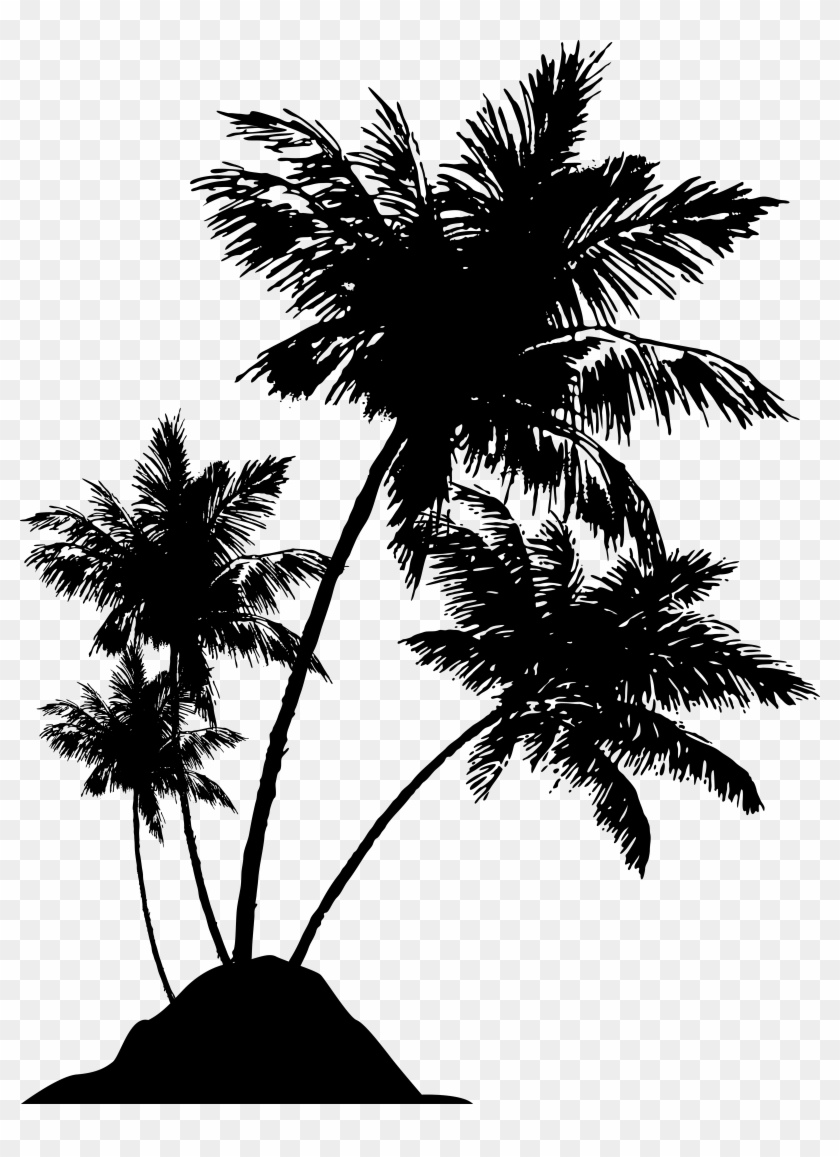 Palm Tree Silhouette Png - Beach Palm Tree Silhouette Png #436316
