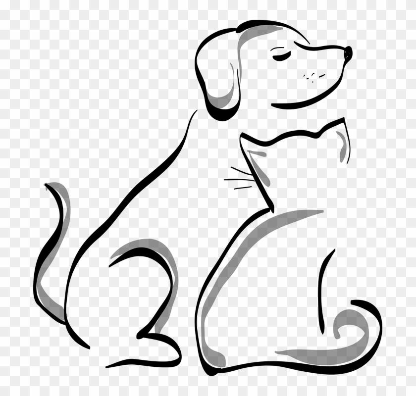 Black And White Dog Clipart 23 Cartoon Dog And Cat Free Transparent Png Clipart Images Download