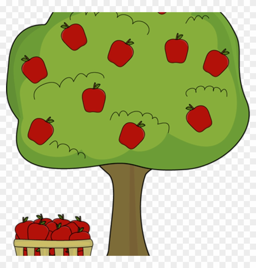 Apple Basket Clipart Apple Tree With Apple Basket Clip - Apple Trees Clip Art #436426