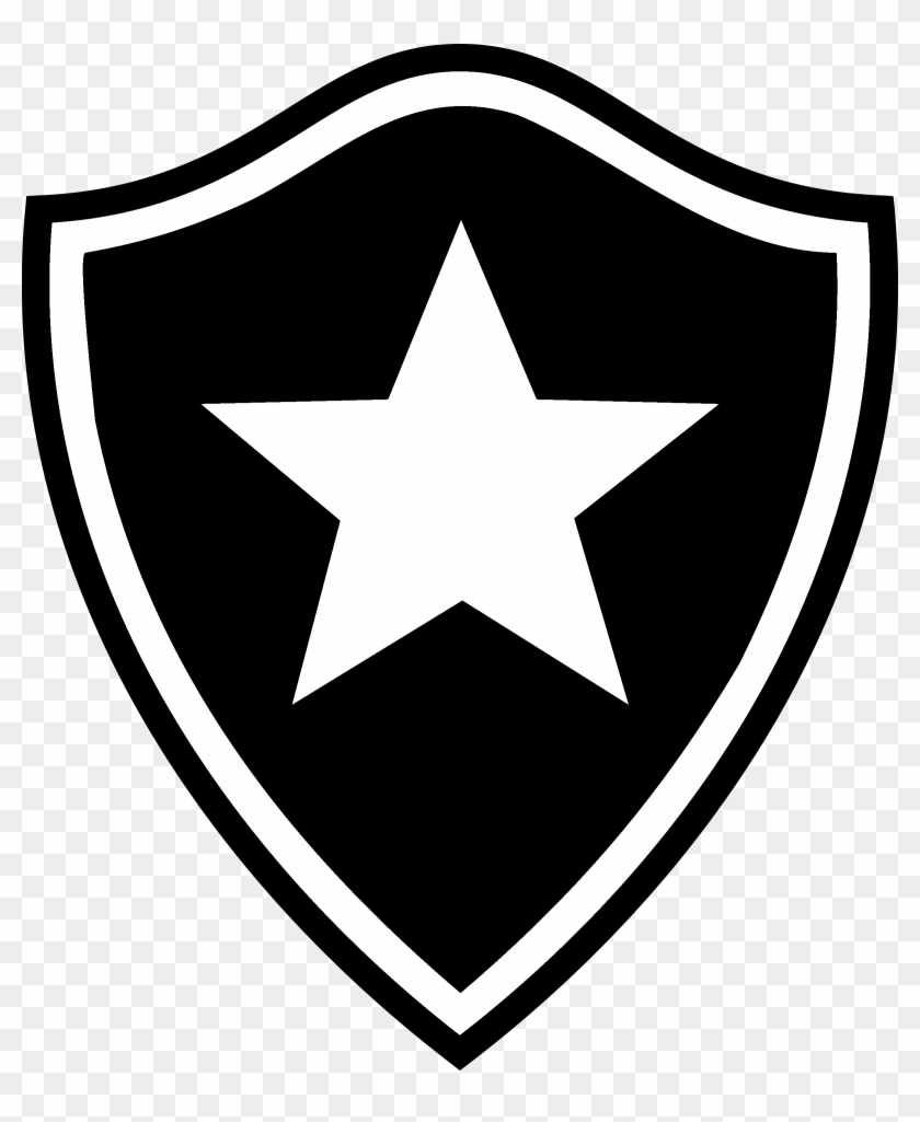 Botafogo Fc Pb Logo Black And White - Captain America Shield Fidget Spinner #436634