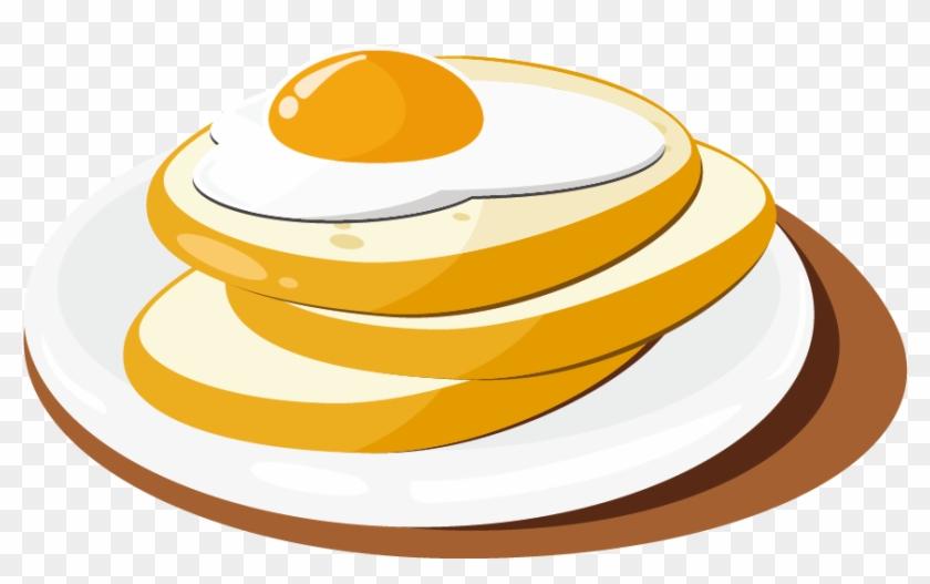 Breakfast Waffle Toast Cupcake - Breakfast Vector Png #437237
