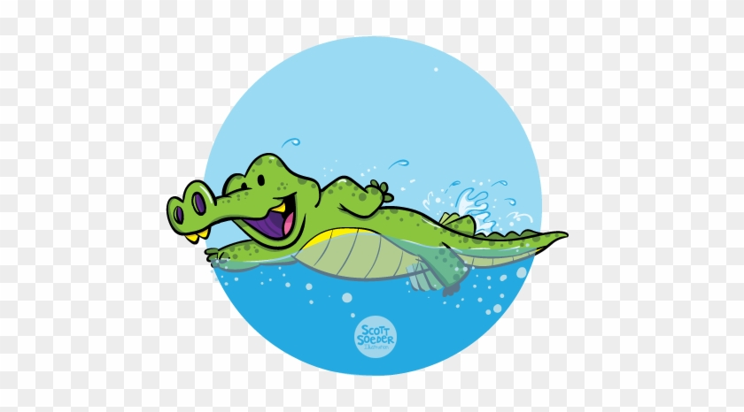 Level 5 Gator - Swimming Crocodile Clipart #438128