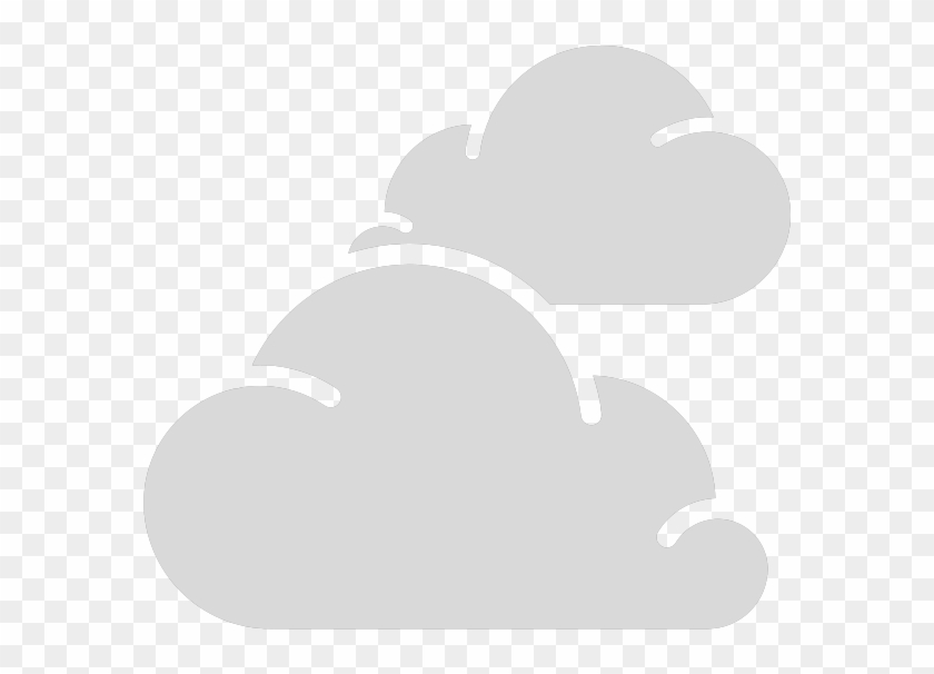 Cloudy Weather Symbol Outline Of Two Clouds - Weather Icon For Cloudy #438401