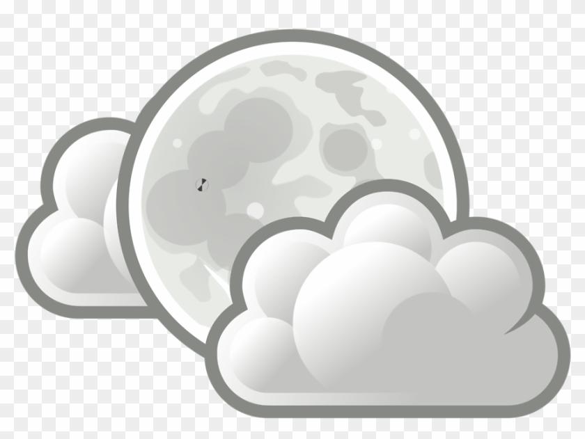 Clouds Clip Art 18, - Weather Few Clouds #438422