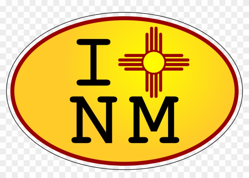 I Zia Nm Yellow Oval Decal - New Mexico Home Messenger Bag #438489