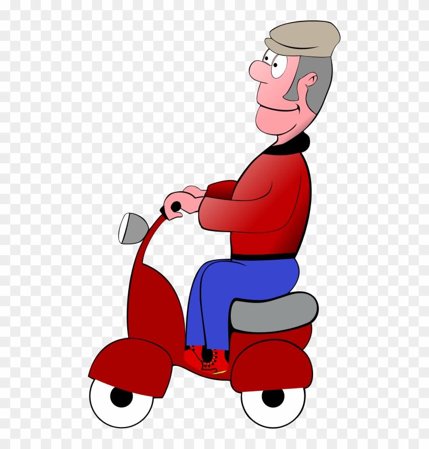 Clip Art Tags - Alter Mann Auf Einer Roller-taschen-tasche Tragetasche #439107