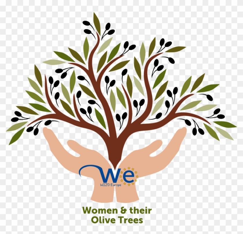 Women And Their Olive Trees Hand Tree Black And White Clipart