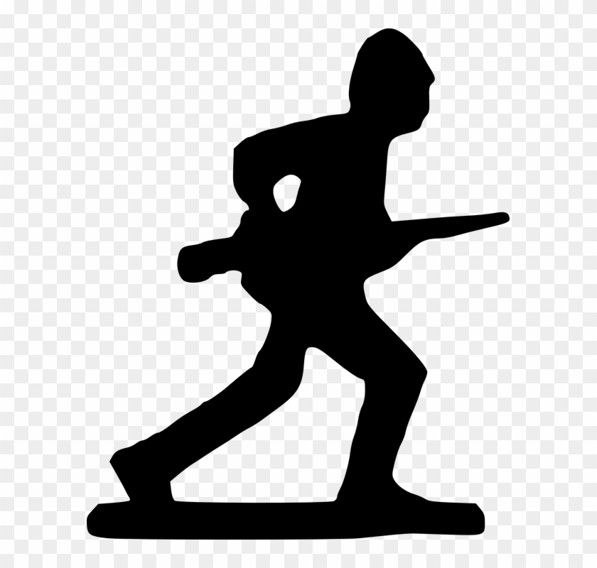 Wars Clipart Soldier Silhouette - Drawing Of Toy Soldiers #439462