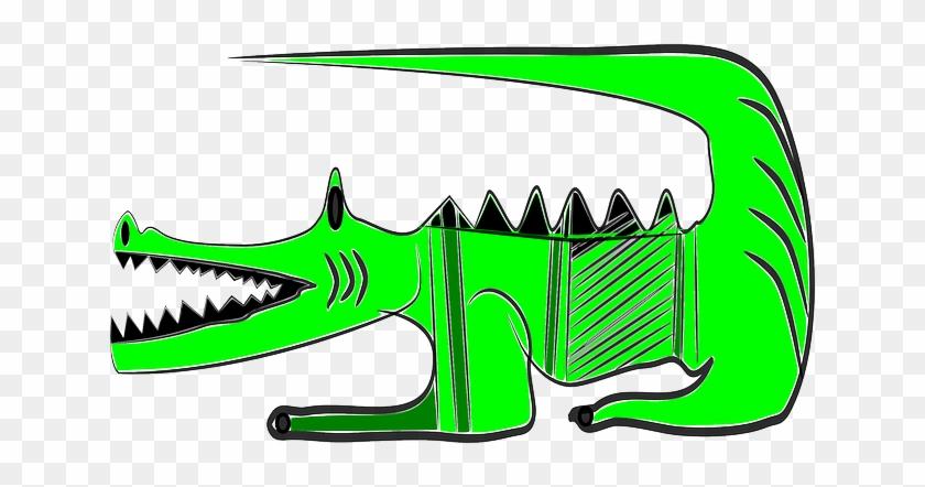 Green Crocodile, Animal, Alligator, Reptile, Green - Alligators #440434