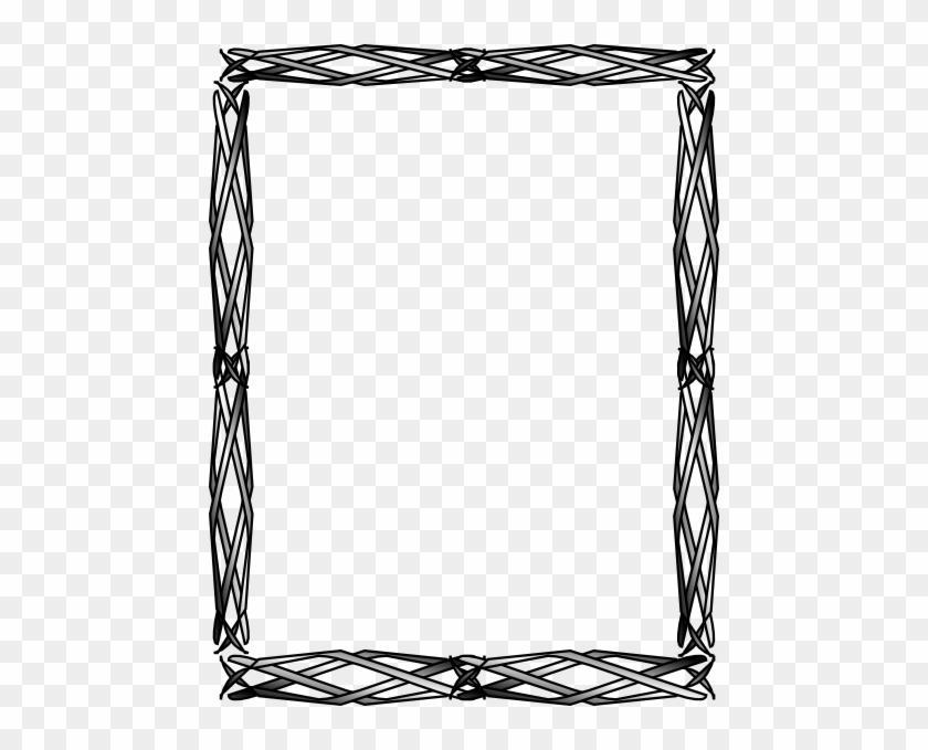 Thinner Celtic Border Clip Art At Clker Com Vector - Celtic Border Art Png #440956