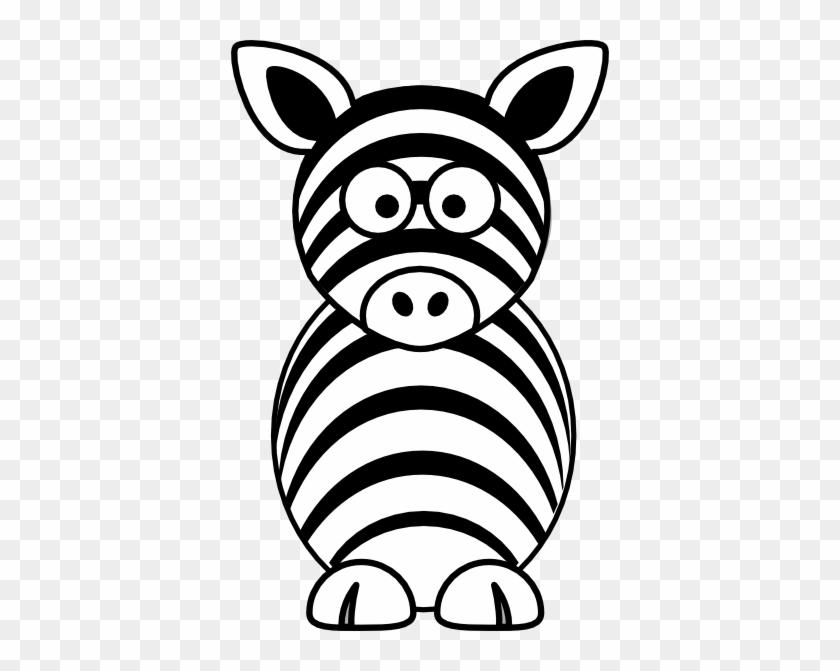 Zebra Head Clip Art Black - Cartoon Zebra #441713