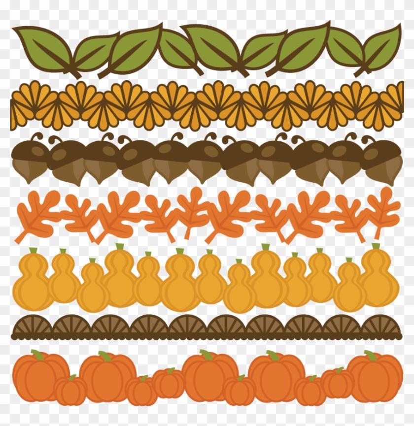 Thanksgiving Borders Set Svg Cut Files For Scrapbooking - Large Thanksgiving Clip Art #442003