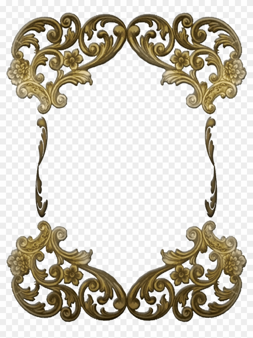 Free Ornate Victorian Frame Art Deco Gold Png 442006